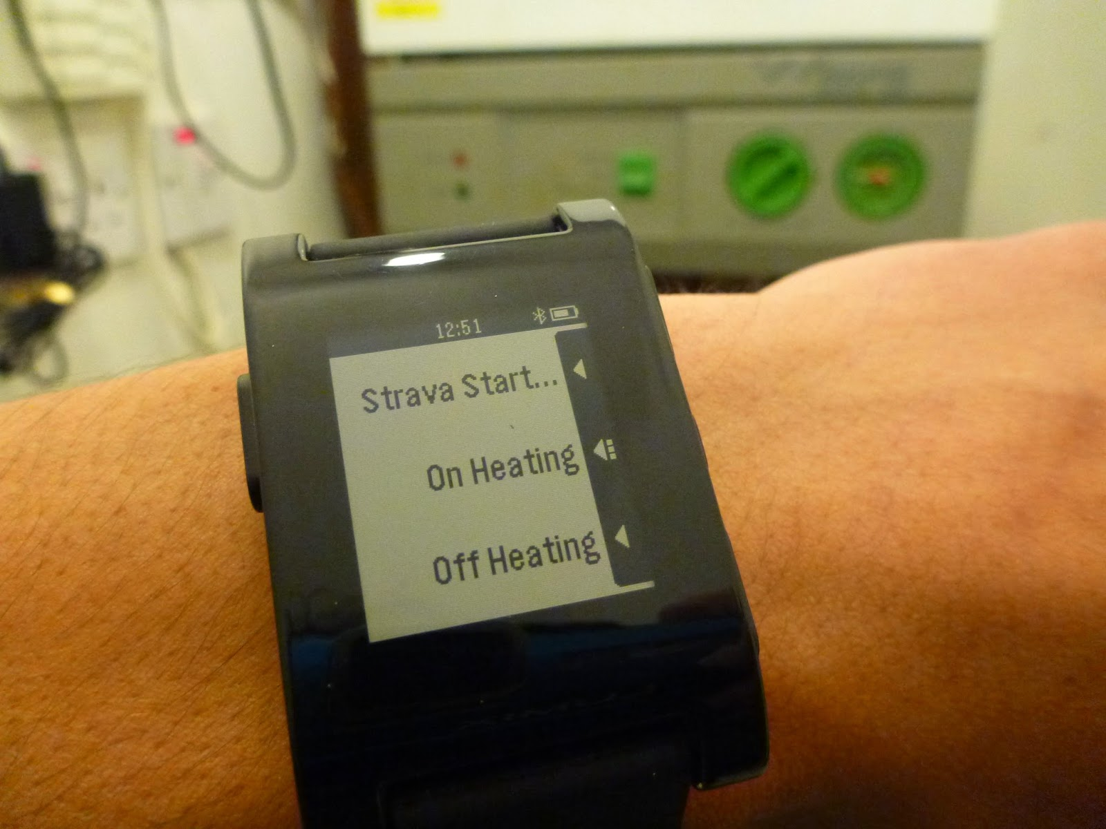 ARCHIVE: : Pebble Smart Watch Emoncms Heating Control Demo