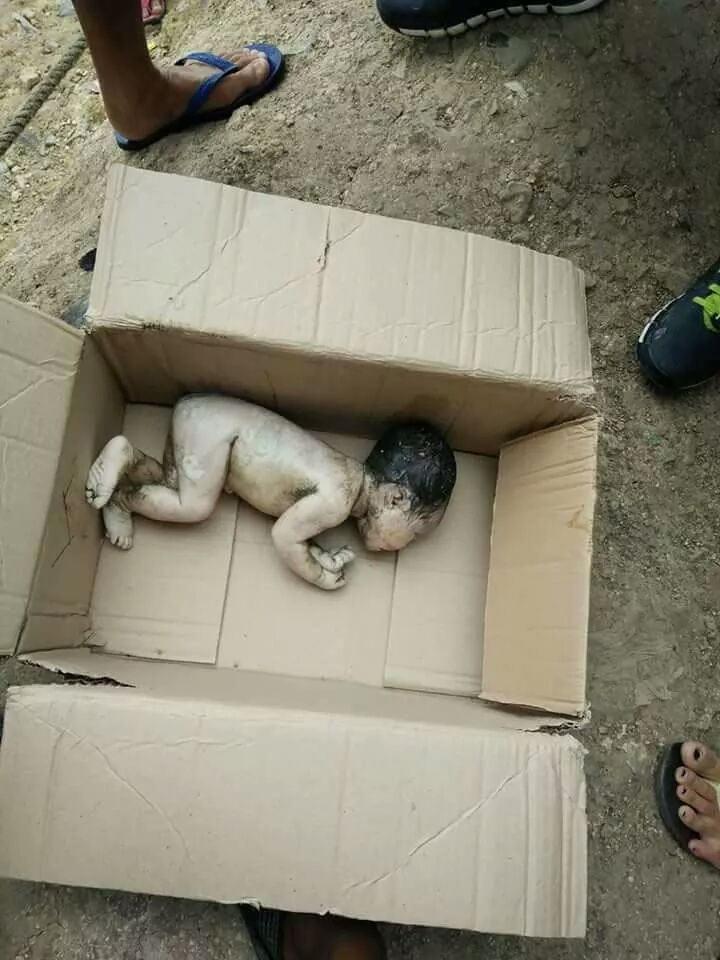 Damn! Newborn baby discovered in sewage