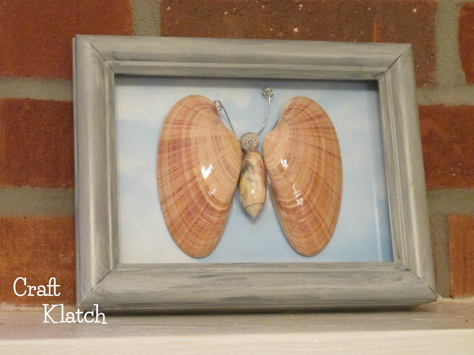 Craft Klatch R DIY Easy Butterfly Shell Art Beach Series