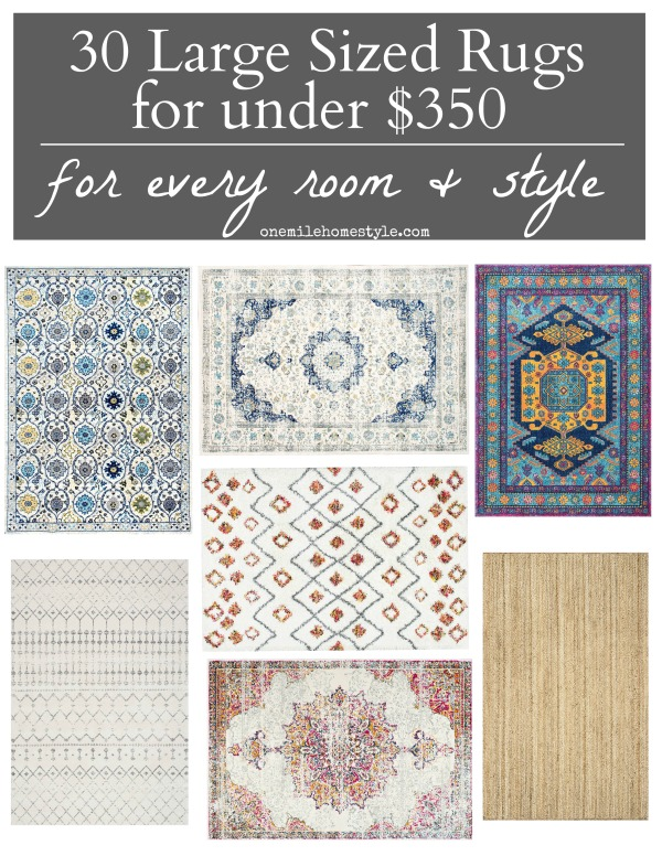 Look no further if you are shopping for large 8x10 Area Rugs! Amazing round-up of area rugs under $350, every style for every room in your home!