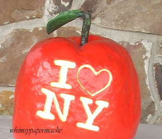 Delicious Paper Mache Big Apple