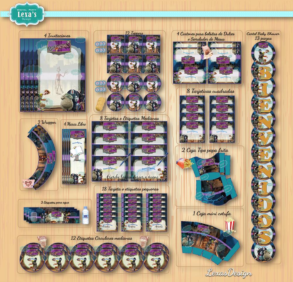 Kit imprimibles para fiestas Hotel Transilvania 2 gratis