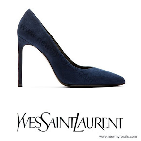 Crown Princess Victoria style Yves Saint Laurent Suede Pumps