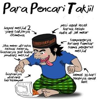 Gambar lucu para pencari takjil gratis bulan ramadhan terbaru buat dp bbm