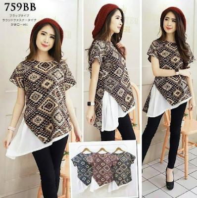 Baju Batik Wanita Model Baru 2018