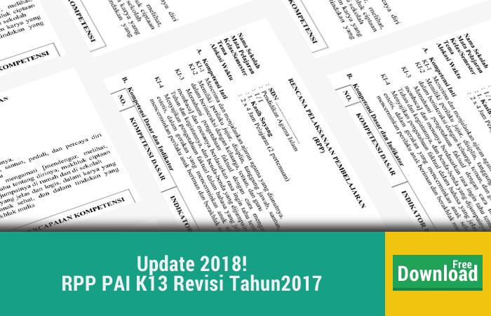 Format Terbaru RPP K13 PAI KEMENAG SD/MI Kelas 1-6