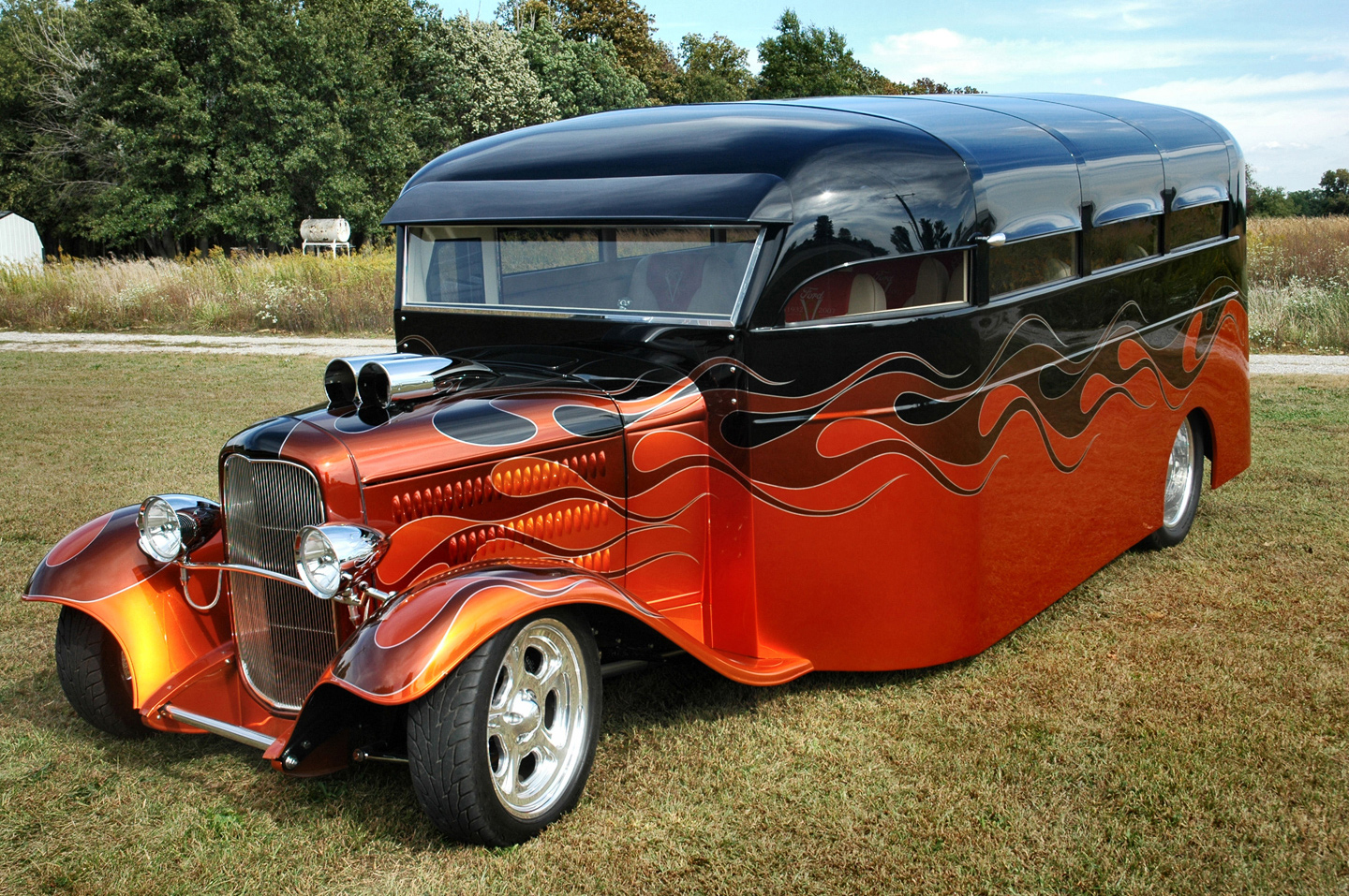 Muscle Car Collection Old School Bus Hot Rod Modified