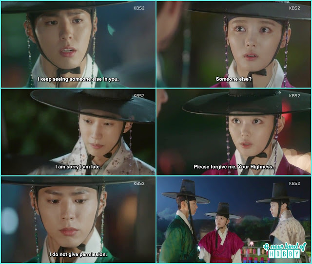 yoon sung again save ra on being caught by the crown prince atthe lantern festival  - Love in The Moonlight - Episode 5 Review