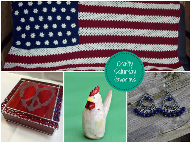 Crafty Saturday Show and Sell Favorites: Red White and Blue - Shop for one of a kind items and support small, handmade and vintage businesses