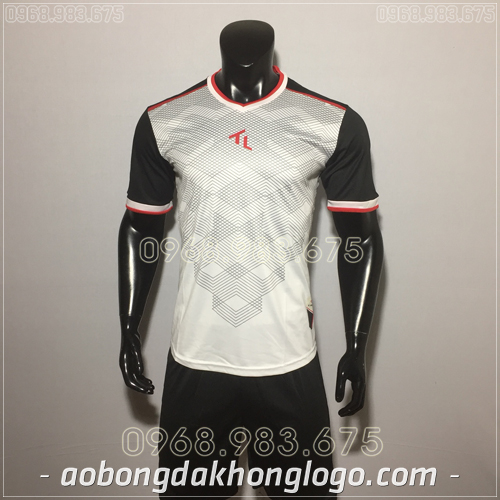 Áo bóng đá không logo TL Xabi  màu trắng