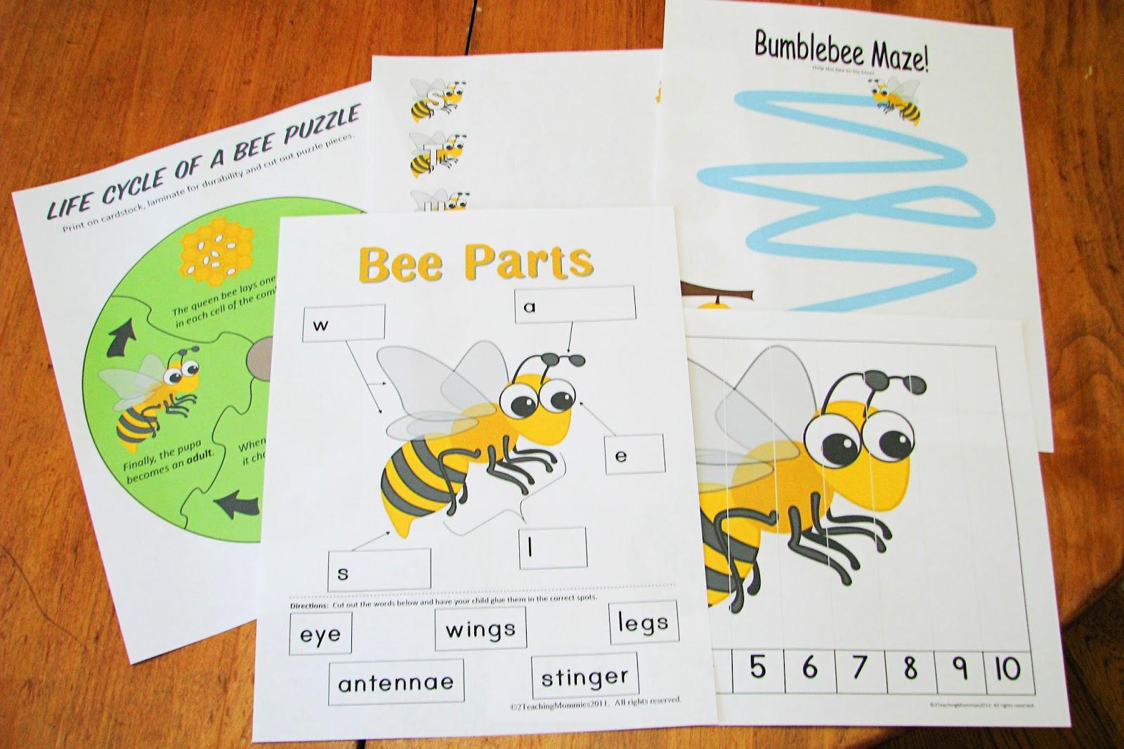 Mommy S Little Helper Bees Preschool Theme