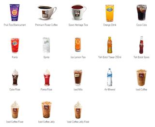 menu mcd dan harga