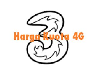 Daftar Harga Kuota 4G Three (3) Termurah Aplikasi Ayopop