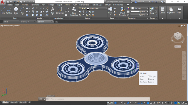 Spinner 3D before render