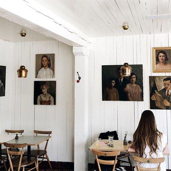 Retratos en restaurante