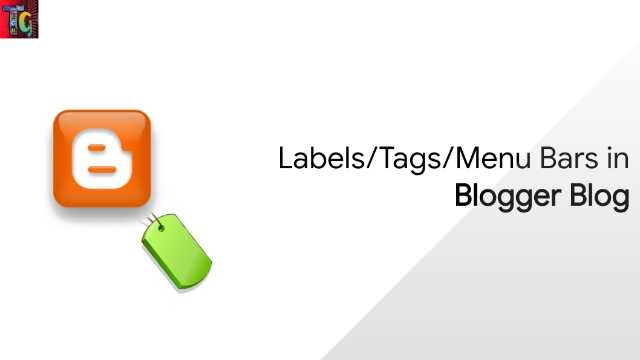 Labels/Tags/Menu Bars in Blogger