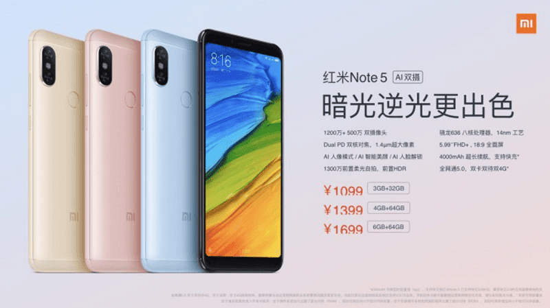 Xiaomi launched a new and improved Redmi Note 5 Pro with A.I. in China!
