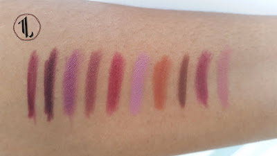 Favourite lip liner swatches www.modenmakeup.com