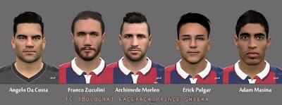 PES 2016 FC Bologna facepack by prince shieka