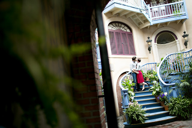 Budget Fairy Tale: Disneyland Engagement Photos - Court of Angels