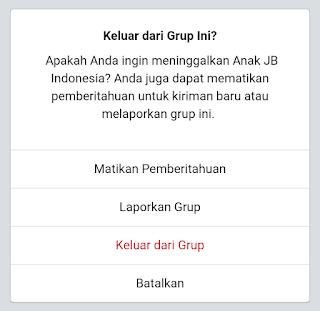 meninggalkan grup