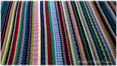 crochet blanket CAL spice of life colourful stripes free pattern