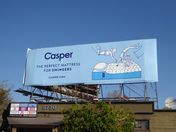 Casper perfect mattress swingers billboard