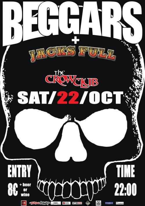 BEGGARS: Σάββατο 22 Οκτωβρίου @ The Crow Club με τους JACKS FULL