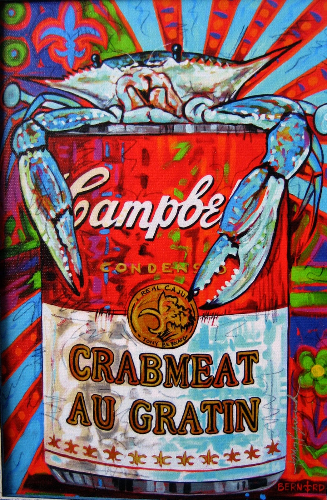 Living Rootless Cajun Pop Art Tony Bernard