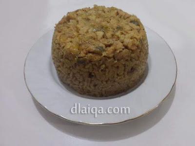 penampakan nasi sebelum dihias