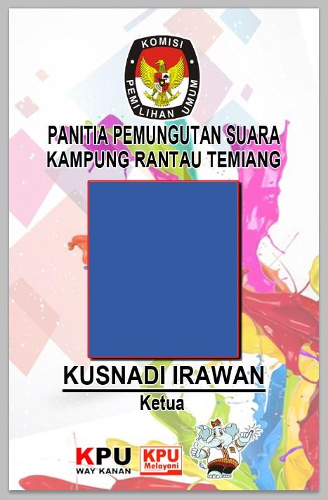 Download Id Card Panitia Word : download, panitia, Download, Desain, Panitia, Pemungutan, Suara, Pemilihan, Gubernur, Lampung