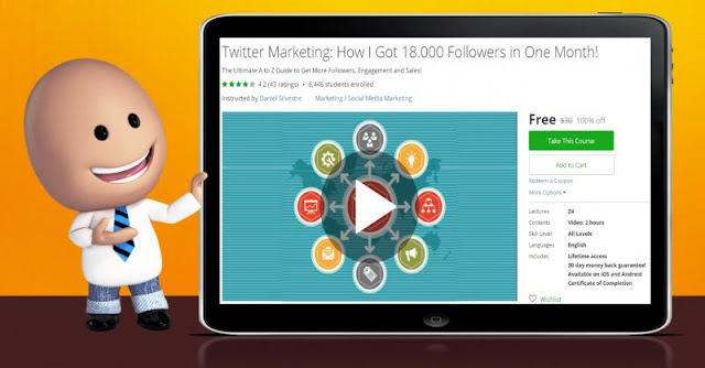 [100% Off] Twitter Marketing: How I Got 18.000 Followers in One Month!| Worth 30$