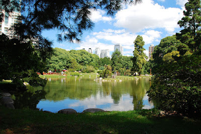 Lago del jardín japonés de Buenos Aires