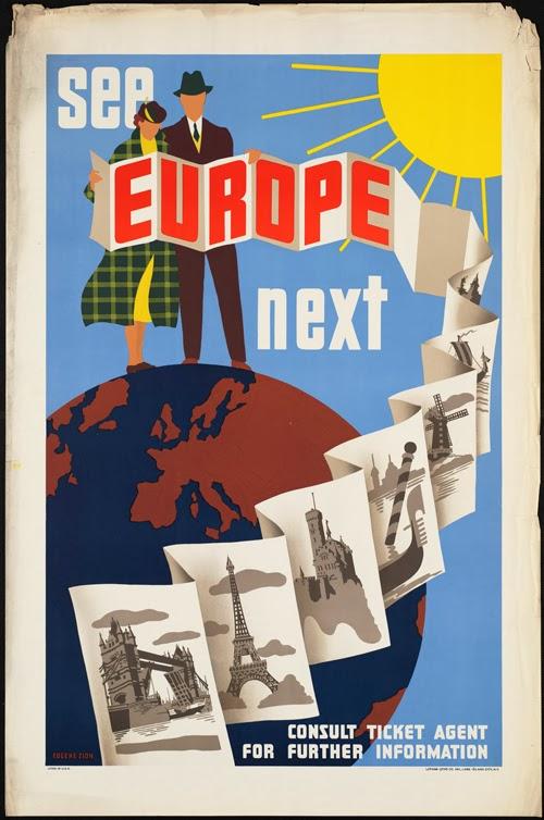 New See Europe Next - Travel Vintage Poster | Free Vintage Posters HV32