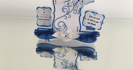 Tattered Lace Decorative centre stepper card- You can fly-