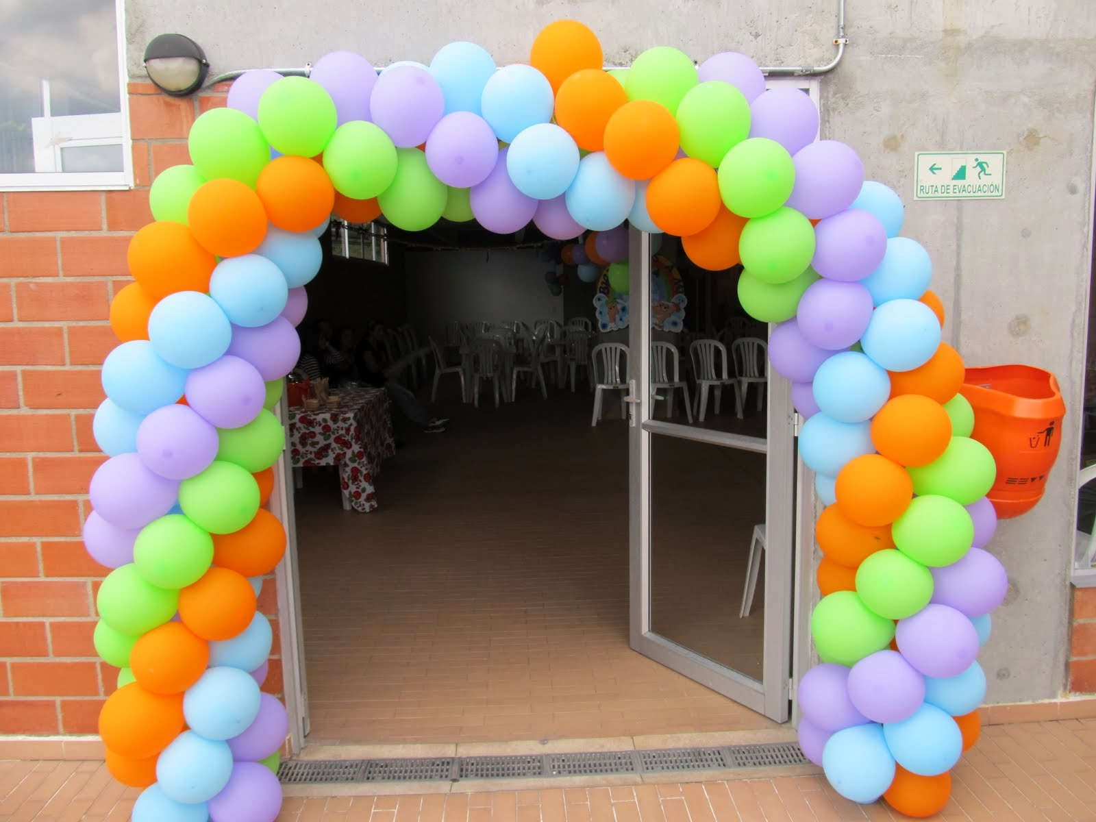 Arco de globos para decorar tu fiesta