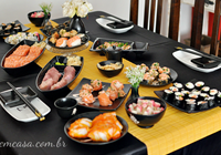almoço japonês em casa