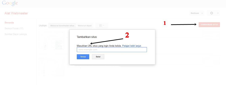 Cara Mendaftarkan Website ke Google Webmaster Tools