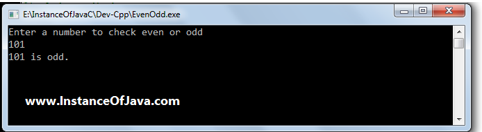 even or odd division modulus in c
