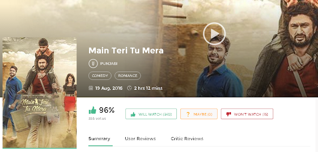 Main Teri Tu Mera 2016 Full Punjabi Movie 700mb HD 300mb