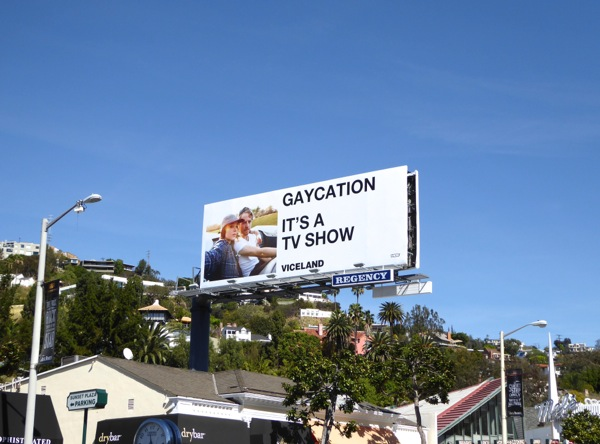 Gaycation TV series billboard
