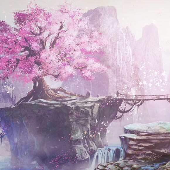 Sakura Mountain Wallpaper Engine