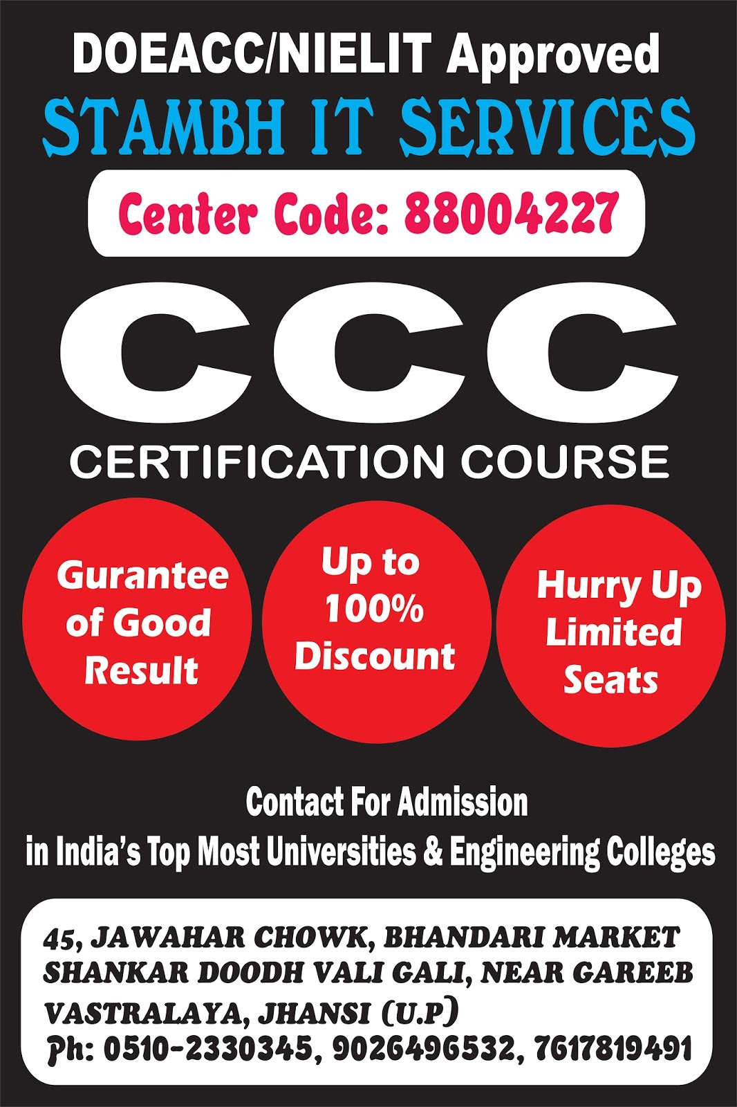 Stambh It Services Ccc Certification Course Nielitdoeacc Approved