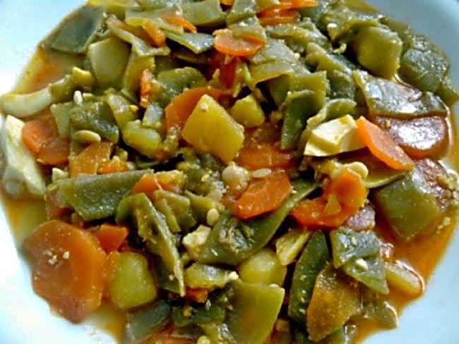 Recetas f cil con bela recetas f ciles de verduras y - Menestra de verduras en texturas ...