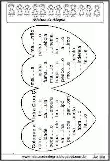 Atividade de fixação do C e Ç