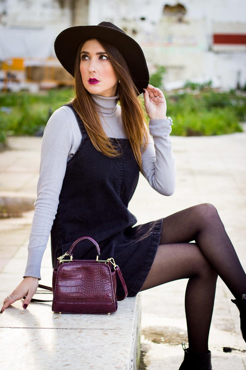 burgundy bag