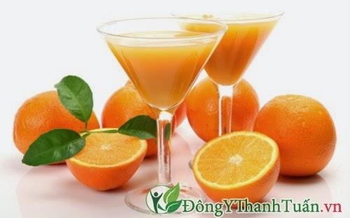 Không uống nước cam khi chữa bệnh đau dạ dày