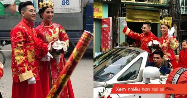 Màn rước dâu siêu độc từ trang phục đến dàn siêu xe khiến người Hà Nội ai cũng ngoái nhìn