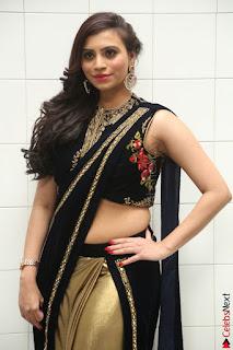 Priyanka Ramana in Beautiful Designer Black Saree At We Craft Elegance Expo Launch 026.JPG