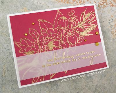 Simple Thank You card, made with the Concord & 9th Grateful for You stamp set.
